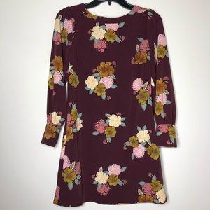 NWT Ann Taylor Loft Burgundy Floral Shift Dress